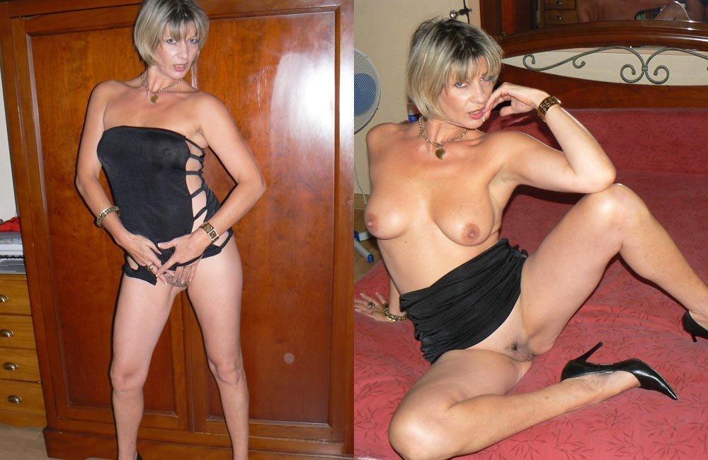 Femme sexy habillé puis nue