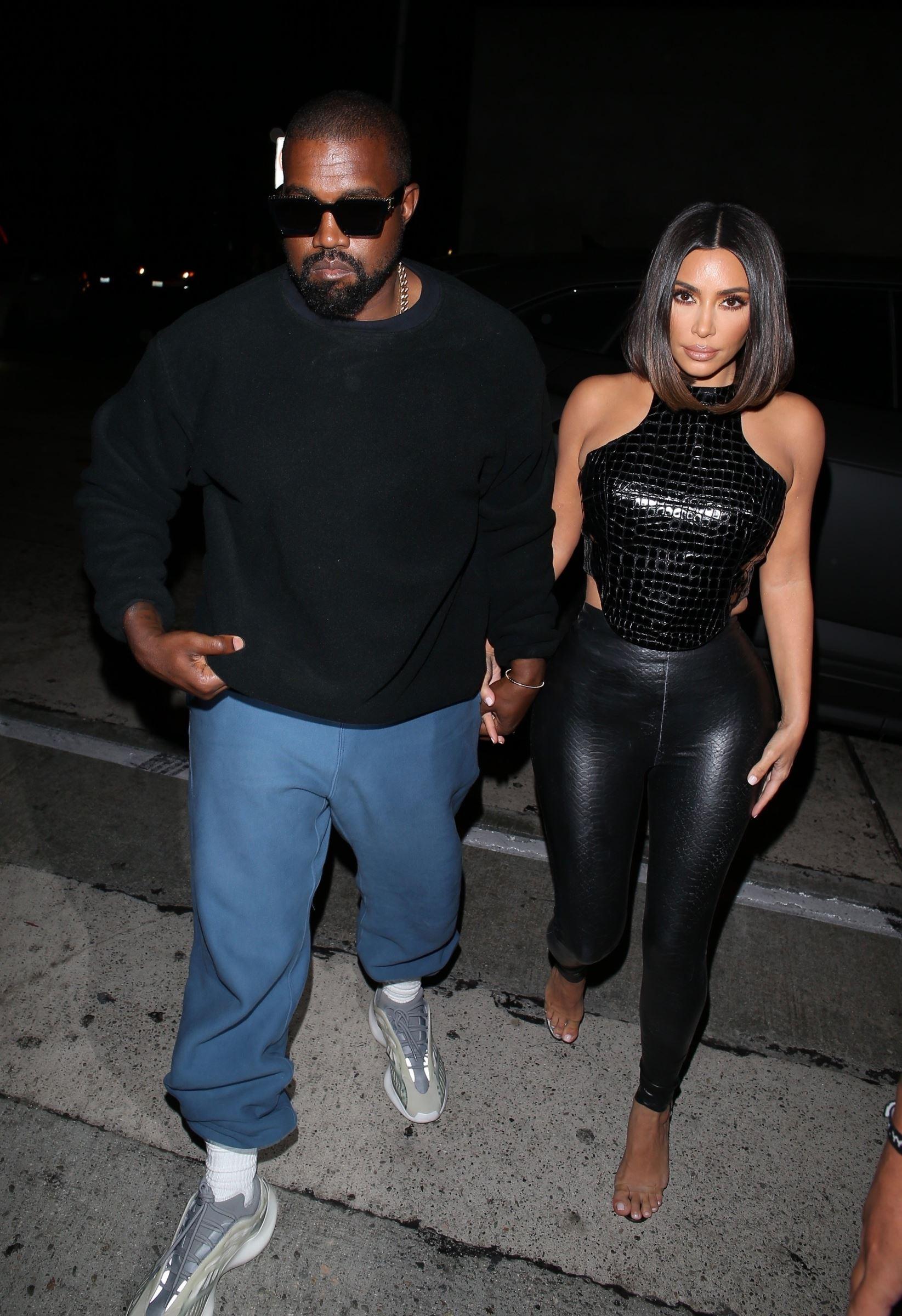 Kim Kardashian en cuir